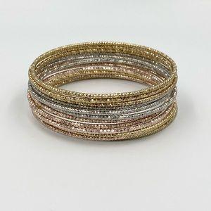 Bebe Stacked Sparkle Bracelets